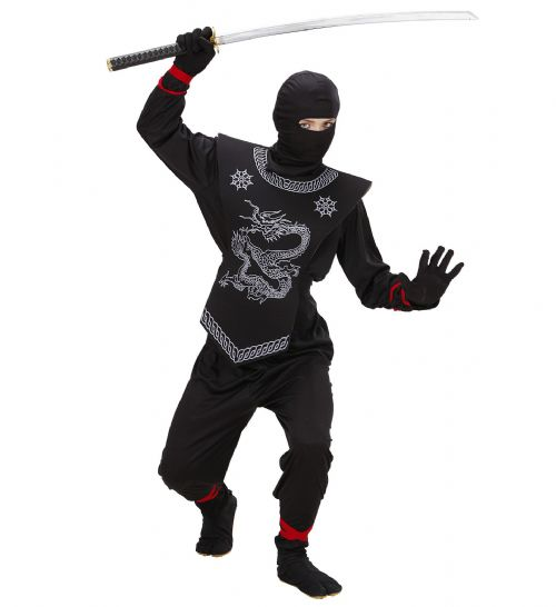 Boys Black Ninja Costume Ninja Fancy Dress